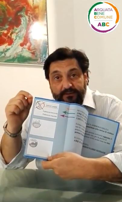 Diego Sabbi invita al Voto